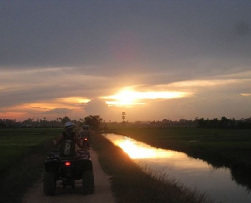 Cambodia Trails sunset